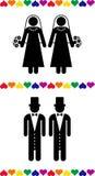 Vrolijke huwelijkspictogrammen Royalty-vrije Stock Foto