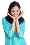 Vrolijke Indische vrouw Royalty-vrije Stock Fotografie