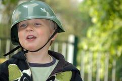 Vrolijke Jonge militair Stock Foto's