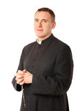 Vrolijke jonge priester royalty-vrije stock afbeeldingen