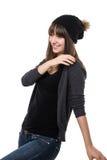 Vrolijke Jonge Vrouw Stock Fotografie