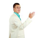 Vrolijke jonge zakenman Stock Foto's