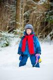 Vrolijke jongen 4 jaar het oude lachen Royalty-vrije Stock Foto's