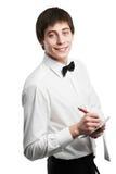 Vrolijke kelner Stock Foto