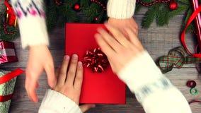 Vrolijke Kerstavond en Gelukkig Nieuwjaarconcept stock videobeelden