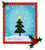 Vrolijke Kerstboom Stock Afbeeldingen
