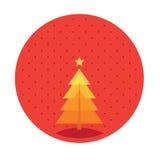 Vrolijke Kerstboom Stock Illustratie