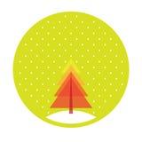 Vrolijke Kerstboom Vector Illustratie