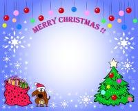 Vrolijke Kerstkaart Stock Fotografie