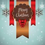 Vrolijke Kerstkaart Stock Afbeelding