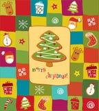 Vrolijke Kerstkaart Stock Illustratie