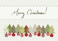 Vrolijke Kerstkaart Royalty-vrije Stock Foto's