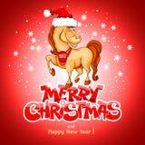 Vrolijke Kerstkaart Stock Foto's