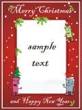 Vrolijke Kerstkaart Stock Afbeeldingen