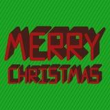 Vrolijke Kerstkaart Royalty-vrije Stock Afbeelding