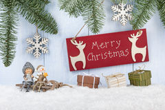 Vrolijke Kerstkaart Royalty-vrije Stock Afbeeldingen