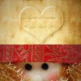 Vrolijke Kerstkaart Santa Claus Stock Foto's