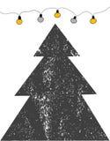 Vrolijke Kerstkaart Vector illustratie Royalty-vrije Stock Afbeeldingen