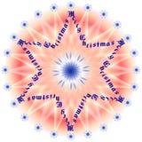 Vrolijke Kerstmis 1 van de ster royalty-vrije illustratie