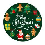 Vrolijke Kerstmis-11 Stock Afbeelding