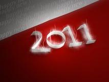 Vrolijke Kerstmis 2011 Royalty-vrije Stock Afbeeldingen