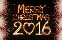 Vrolijke Kerstmis 2016 Stock Foto