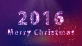 2016 Vrolijke Kerstmis Royalty-vrije Stock Foto