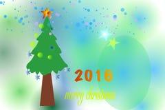 Vrolijke Kerstmis 2016 Royalty-vrije Stock Afbeelding