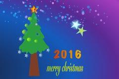Vrolijke Kerstmis 2016 Stock Afbeelding