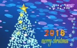 Vrolijke Kerstmis 2016 Royalty-vrije Stock Afbeeldingen
