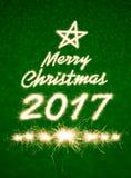 Vrolijke Kerstmis 2017 Royalty-vrije Stock Afbeeldingen