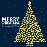 Vrolijke Kerstmis 01 stock illustratie