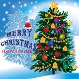 Vrolijke Kerstmis aan allen Stock Afbeelding