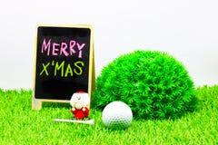 Vrolijke Kerstmis aan golfspeler Stock Foto