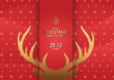 Vrolijke Kerstmis Achtergrond Vectorillustratieep3 2 Stock Fotografie