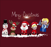 Vrolijke Kerstmis allen Stock Foto