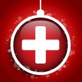 Vrolijke Kerstmis Arts Hospital Cross Ball royalty-vrije illustratie