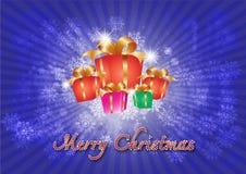 Vrolijke Kerstmis background_02 Stock Foto's