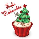 Vrolijke Kerstmis Cupcake Royalty-vrije Stock Afbeeldingen