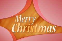 Vrolijke Kerstmis - de kaart van de Groet Stock Foto's