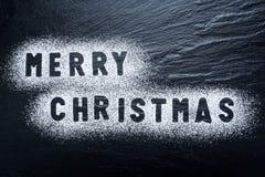 Vrolijke Kerstmis - de Zwarte Achtergrond van de Leitextuur - Steen - Grung Royalty-vrije Stock Afbeeldingen