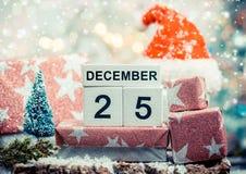 Vrolijke Kerstmis 25 December Stock Fotografie