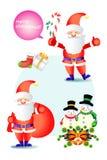 Vrolijke Kerstmis decoratieve elementen - illustratie eps10 Stock Foto