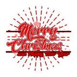 Vrolijke Kerstmis die retro ontwerp begroeten Stock Afbeelding