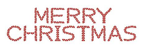 Vrolijke Kerstmis die van harten wordt gemaakt Stock Afbeeldingen
