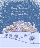 Vrolijke Kerstmis en de Gelukkige achtergrond van de Nieuwjaarvakantie Royalty-vrije Stock Fotografie