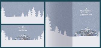 Vrolijke Kerstmis en de Gelukkige achtergrond van de Nieuwjaarvakantie met inscr Royalty-vrije Stock Foto
