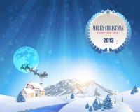 Vrolijke Kerstmis en de Gelukkige Achtergrond van het Nieuwjaar Stock Illustratie