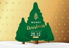 Vrolijke Kerstmis en de Gelukkige achtergrond van het Nieuwjaar Stock Fotografie