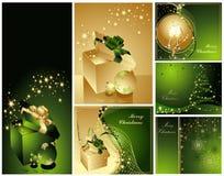 Vrolijke Kerstmis en de Gelukkige inzameling van het Nieuwjaar Stock Foto